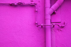 Pink facade with down-pipe Stock Photography