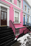 Pink facade house Stock Images