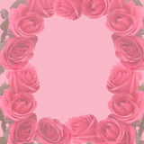 Pink faded  roses scapbooking page Stock Images