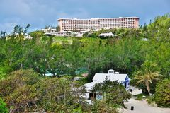 The pink Fairmont Hotel in Southampton, Bermuda Stock Photo