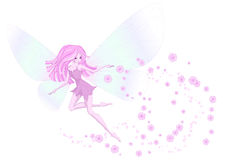 Pink fairy Royalty Free Stock Image