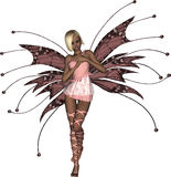 Pink Fairy Bashful. Beautiful pink fairy looking bashful Stock Photos