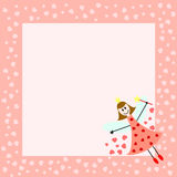 Pink fairy card Stock Photos