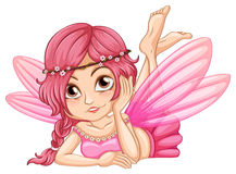 Pink fairy. Illustration of a single pink fairy Stock Photo