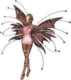 Pink Fairy Tiptoe. Beautiful pink fairy on tiptoe Royalty Free Stock Images