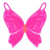 Pink fairy wings icon, cartoon style. Pink fairy wings icon. Cartoon illustration of pink fairy wings vector icon for web Stock Photography