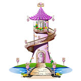 Pink fairytale castle Royalty Free Stock Photography