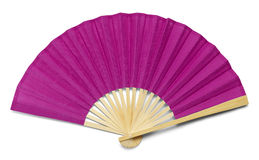 Pink Fan. Pink Open Hand Fan Isolated on a White Background Stock Image