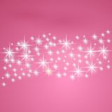 Pink fantasy background with stars Stock Photos