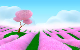 Pink fantasy landscape Stock Photography