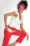 Pink fashion. Beautiful young woman in trendy pink outfit Stock Photography