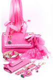Pink fashion accessories Royalty Free Stock Photography