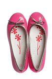 Pink fashion glomour shoes Royalty Free Stock Image