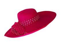 Pink fashion hat isolated on white Stock Image