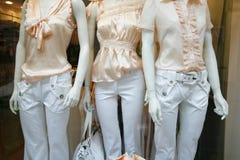 Pink fashion Paris. Fashion through a storewindow - Paris - France Royalty Free Stock Photos