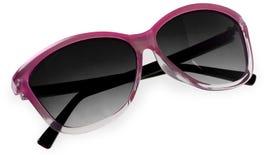 Pink fashion sunglasses isolated on white Royalty Free Stock Image