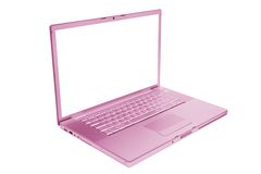 Pink and fashionable laptop Royalty Free Stock Image