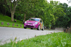 Pink fast rally car Royalty Free Stock Image