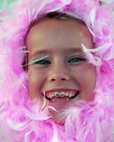 Pink Feather Girl Royalty Free Stock Photo