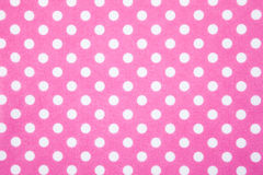 Pink felt polka dot background Royalty Free Stock Images