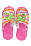 Pink female house slippers Stock Images