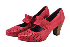 Pink female shoes Royalty Free Stock Image