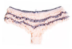 Pink feminine panties with lace Royalty Free Stock Images