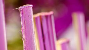 Pink fence stock image