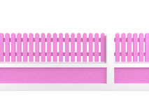 Pink fence Royalty Free Stock Image