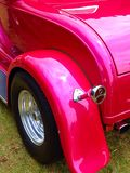 Pink fender. Hot pink rear fender of hot rod Royalty Free Stock Image