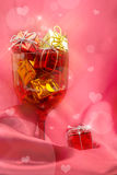 Pink festive background Royalty Free Stock Images