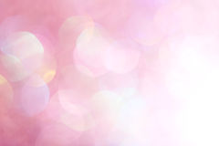 Pink festive Christmas elegant abstract background soft lights Stock Photos
