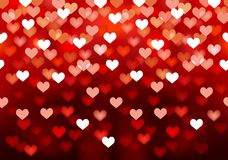 Pink festive lights in heart shape, vector Royalty Free Stock Images