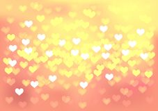 Pink festive lights in heart shape, vector Royalty Free Stock Image