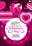 Pink festive Valentine Stock Images