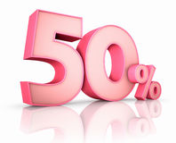 Pink Fifty Percent Stock Photography