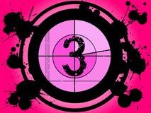 Pink Film Countdown - At 3 Royalty Free Stock Image