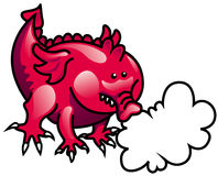Pink fire-breathing dragon. (symbol 2012 Royalty Free Stock Photography