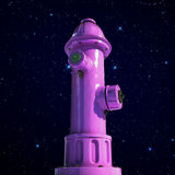 Pink fire hydrant Royalty Free Stock Image