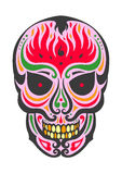 Pink fire skull Stock Image