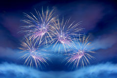 Pink firework Royalty Free Stock Photography