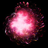 Pink fireworks. Explosion Stock Photo