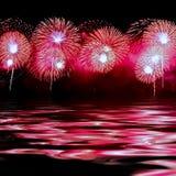 Pink fireworks Stock Photo