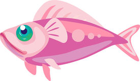 Pink fish. With green shiny eye Stock Photos