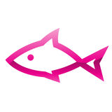 Pink Fish Icon. Illustration of Pink Fish Icon isolated on a white background Stock Photo