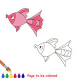 Pink fish. Page to be color Stock Photo