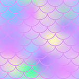 Pink fish scale  seamless pattern. Magic Mermaid texture or background square swatch. Marshmallow colors gradient mesh. Mermaid pattern or decor element. Fish Stock Photography