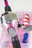 Pink Fishing Pole Stock Photo