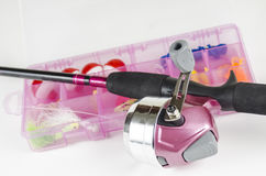 Pink Fishing Pole Royalty Free Stock Image