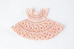 Pink fishnet dress knitted wool Royalty Free Stock Image